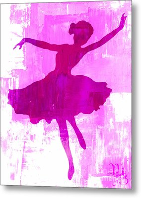 Pink Dancer Metal Print