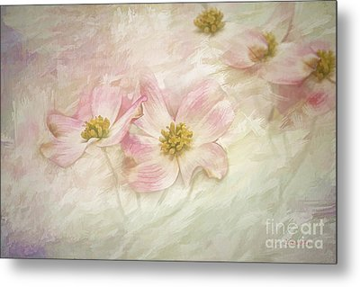 Metal Print featuring the painting Pink Dogwood by Linda Blair