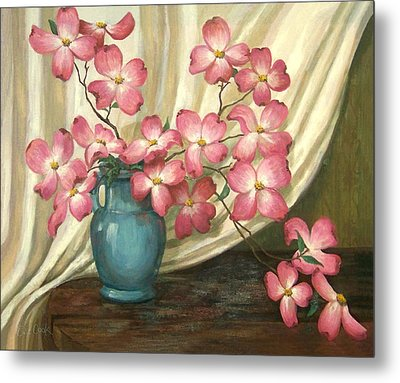 Pink Dogwoods Metal Print by Evie Cook