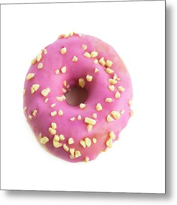 Pink Doughnut Metal Print by Science Photo Library