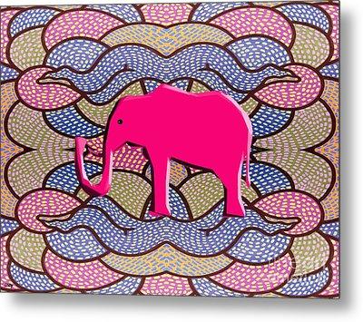 Pink Elephant Metal Print by Patrick J Murphy