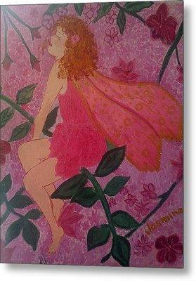 Pink Fairy Metal Print by Judi Goodwin
