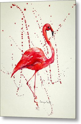 Pink Flamingo Metal Print by Tamyra Crossley