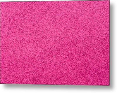 Pink Fleece Metal Print by Tom Gowanlock