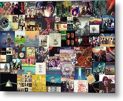 Pink Floyd Collage I Metal Print by Taylan Apukovska