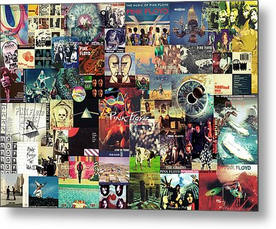 Pink Floyd Collage II Metal Print by Taylan Apukovska