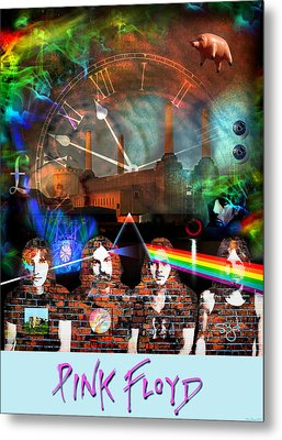 Pink Floyd Collage Metal Print
