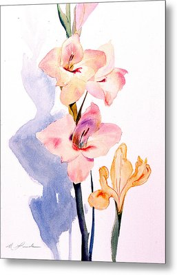 Pink Gladiolas Metal Print by Mark Lunde