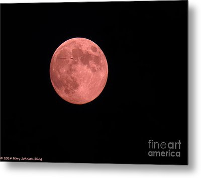 Pink Harvest Moon Metal Print