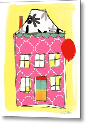 Pink House Metal Print by Linda Woods