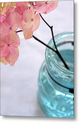 Metal Print featuring the photograph Pink Hydrangea No. 1 by Brooke T Ryan