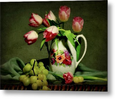 Pink In A Pitcher Metal Print