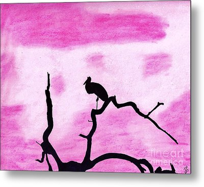 Pink In The Sunset Metal Print
