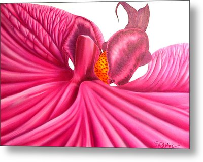 Metal Print featuring the painting Pink Lady by Darren Robinson