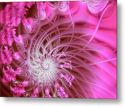 Pink Metal Print by Lena Auxier