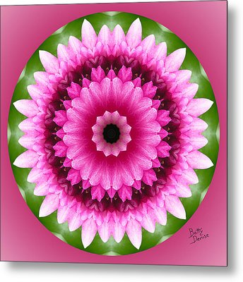 Metal Print featuring the photograph Pink Lotus Kaleidoscope by Betty Denise