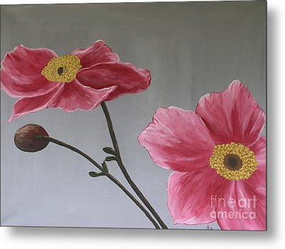 Pink Mexican Aster  - Sold Metal Print by Christiane Schulze Art And Photography