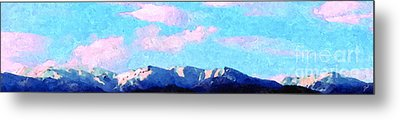 Blue Mountains Metal Print by Ze  Di