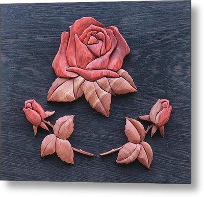 Pink My Lady Rose Metal Print by Bill Fugerer