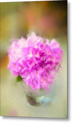 Pink Painted Rhododendrom Metal Print by Mary Timman