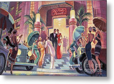 Pink Parrot Club Metal Print by Michael Young