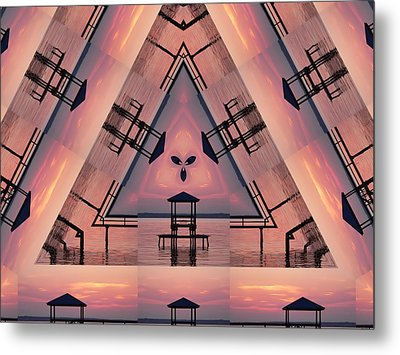 Pink Pier Kaleidoscope Two  Metal Print