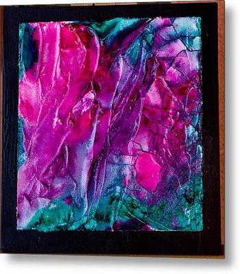 Pink Polinator Metal Print