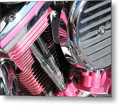 Metal Print featuring the photograph Pink Power by Samuel Sheats