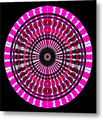 Pink Rings II Metal Print by Visual Artist  Frank Bonilla