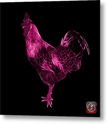 Pink Rooster 3186 F Metal Print by James Ahn