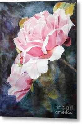 Pink Rose Caroline Metal Print