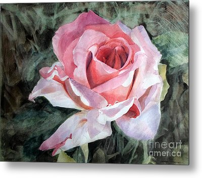 Pink Rose Greg Metal Print by Greta Corens