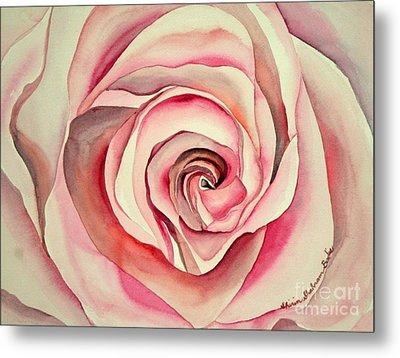 Pink Rose Metal Print by Shirin Shahram Badie
