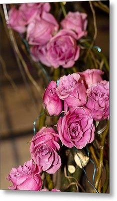 Metal Print featuring the photograph Pink Roses by Patrice Zinck