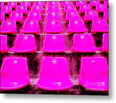 Pink Seats Metal Print by Michael Knight