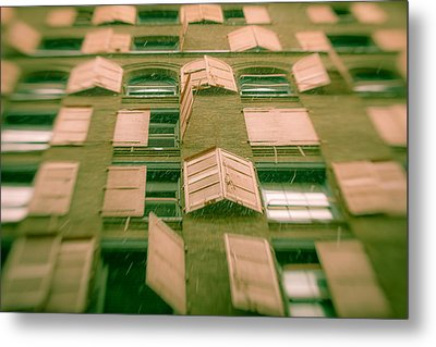 Metal Print featuring the photograph Pink Shutters by Takeshi Okada