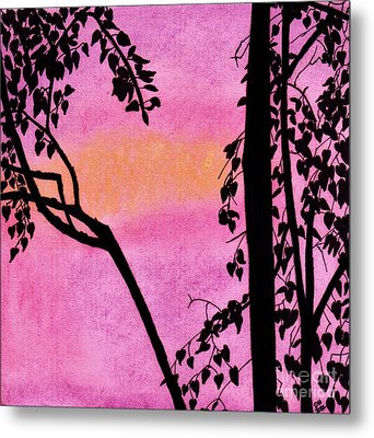 Metal Print featuring the drawing Pink Sky Sunset by D Hackett