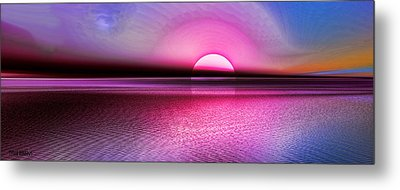 Metal Print featuring the digital art Pink Sunset by Tyler Robbins