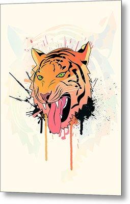 Pink Tiger  Metal Print by Mark Ashkenazi