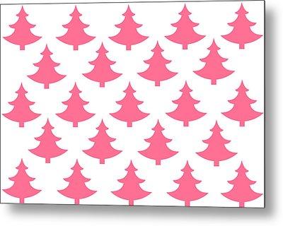 Pink Trees Metal Print by Chastity Hoff