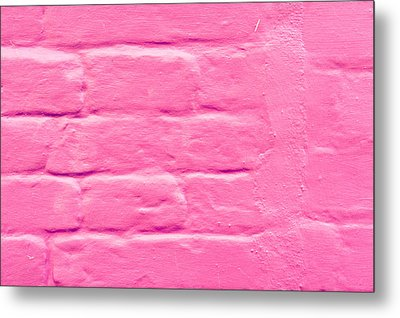 Pink Wall Metal Print by Tom Gowanlock