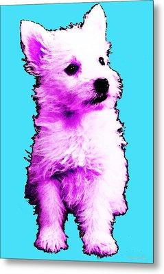 Pink Westie - West Highland Terrier Art By Sharon Cummings Metal Print by Sharon Cummings