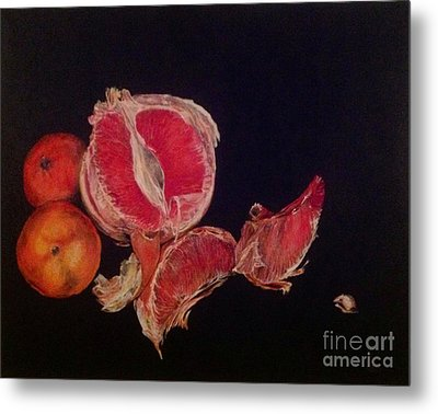 Metal Print featuring the painting Pink Zest by Iya Carson