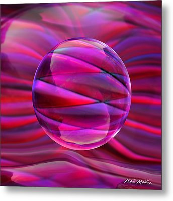Pinking Sphere Metal Print by Robin Moline