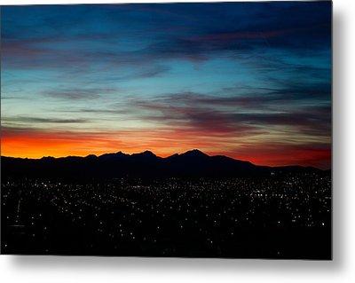 Pintler Sunset  Metal Print by Kevin Bone