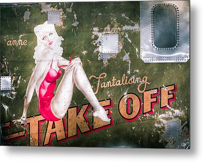 Pinup Girl - Aircraft Nose Art - Take Off Anne Metal Print by Gary Heller