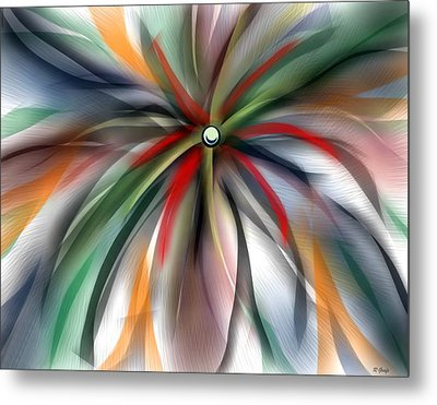 Pinwheel Abstract Metal Print