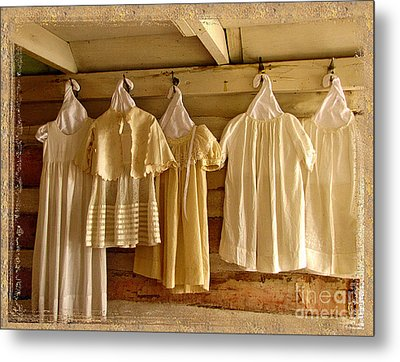Pioneer Days-child's Dresses Metal Print by Marilyn Smith