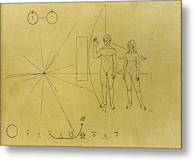 Pioneer Plaque, 1972 Metal Print