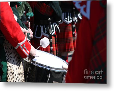 Pipe And Drums Metal Print